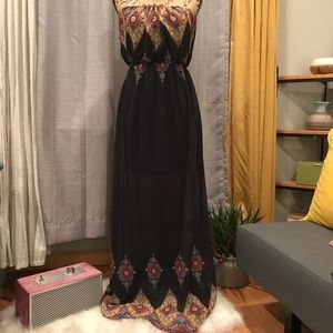 Boho Strapless Dress